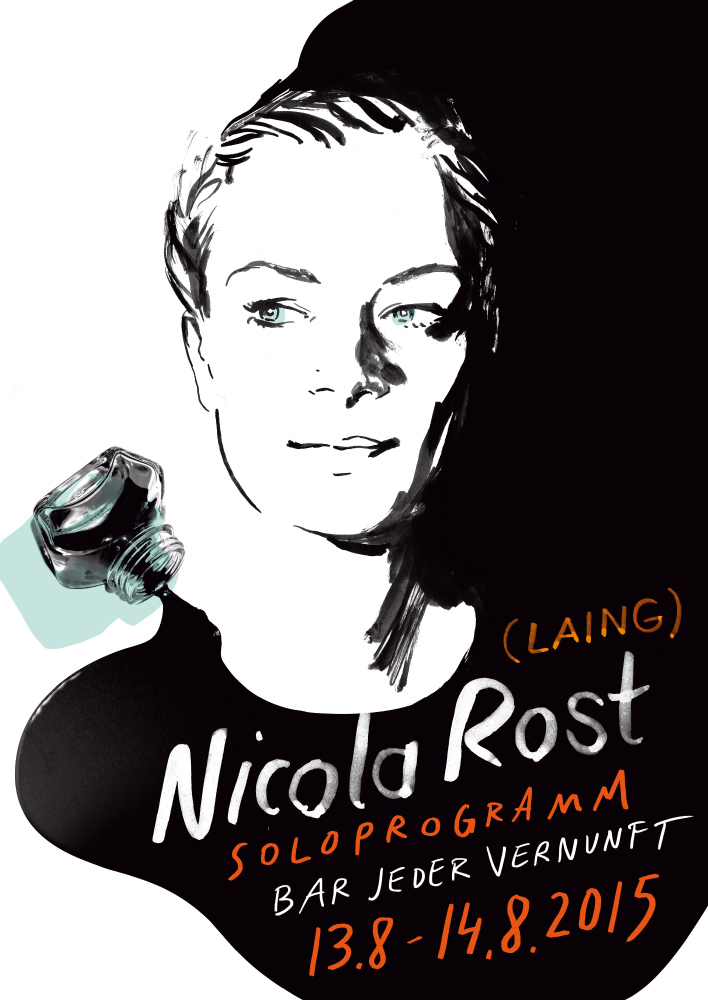 Veranstaltungsplakat Nicola Rost, Songwriterin, Sängerin (Laing)